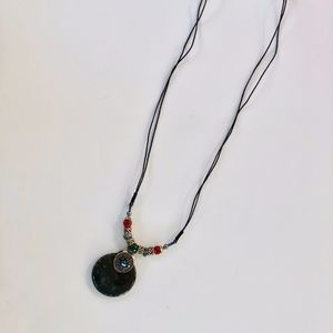Deep Jewel Toen Boho Long Necklace.